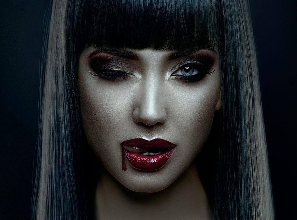 Halloween vampire facial